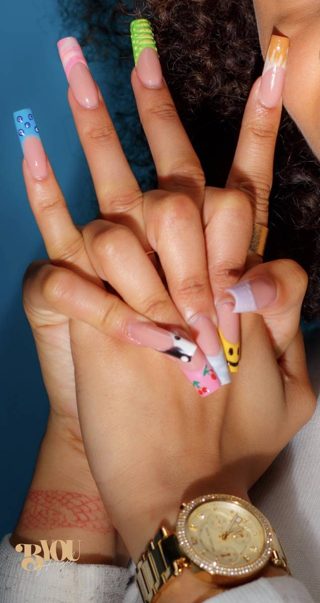 pose en gel sur chablons et nail art